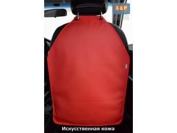 Защитная накидка (чехол) на спинку автомобильного сиденья. Искусственная кожа. Цвет: красный.