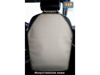 Защитная накидка (чехол) на спинку автомобильного сиденья. Искусственная кожа. Цвет: свело-бежевый.