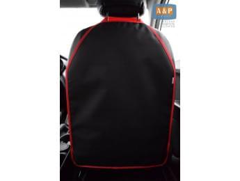 Защитная накидка (чехол) на спинку автомобильного сиденья. Цвет: черный с красной окантовкой.