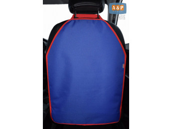 Защитная накидка (чехол) на спинку автомобильного сиденья. Цвет: синий с красной окантовкой.