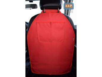 Защитная накидка (чехол) на спинку автомобильного сиденья с карманами. Цвет: красный.