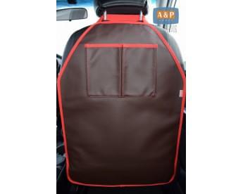 Накидка (чехол) на спинку автомобильного сиденья с карманами. Искусственная кожа.