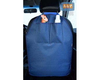 Накидка (чехол) на спинку автомобильного сиденья с карманами.