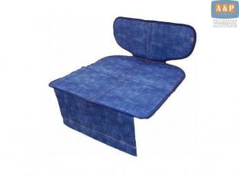 Защитный коврик (накидка) под детское автокресло-бустер. Цвет: джинс.