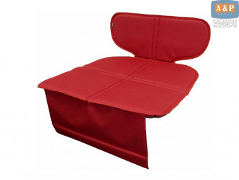 Защитный коврик (накидка) под детское автокресло-бустер. Цвет: красный.