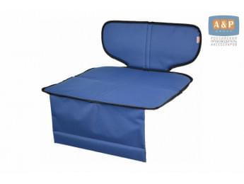 Защитный коврик (накидка) под детское автокресло-бустер. Цвет: синий с черной окантовкой.
