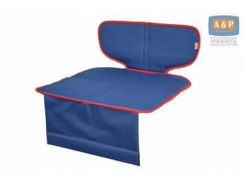 Защитный коврик (накидка) под детское автокресло-бустер. Цвет: темно-синий с красной окантовкой.