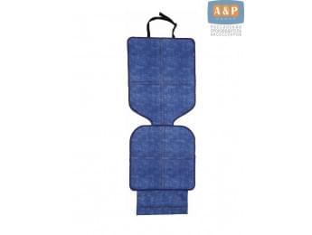 Защитный коврик (накидка) под детское автокресло. Цвет: джинс.