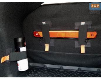 """Багажные ремни (багажный карман, липучки в багажник) """"Вертикаль-Мини"""" для ворса. Комплект из 3-х штук."""