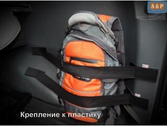 Комплект из 2х багажных ремней (багажный карман, липучки в багажник) для пластиковой поверхности.