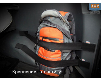 Комплект из 2х багажных ремней (багажный карман, липучки в багажник) для пластика.