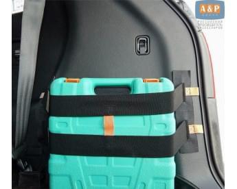 "Багажный ремень (багажный карман, липучки в багажник) ""Вертикаль"" для пластика."