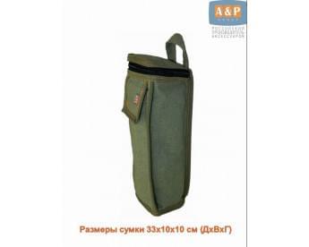 Сумка для домкрата или ножного насоса. Размеры 33х10х10 см. Материал – брезент.