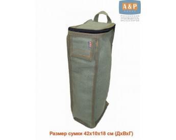 Сумка для домкрата или ножного насоса. Размеры 42х10х18 см. Материал – брезент.