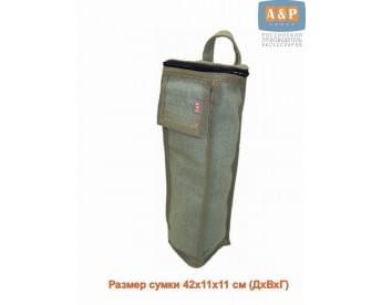 Сумка для домкрата или ножного насоса. Размеры 43х11х11 см. Материал – брезент.