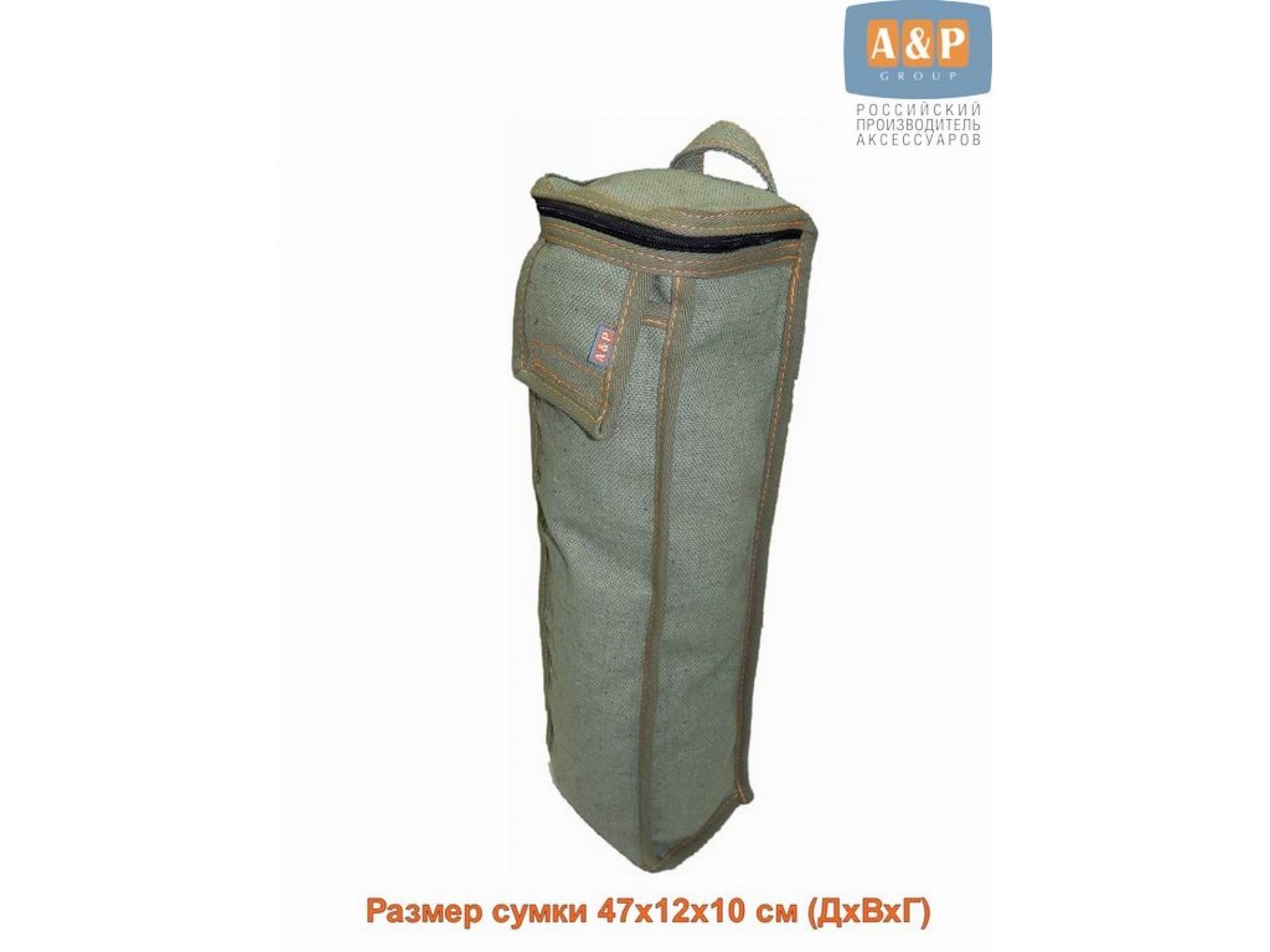 Сумка для домкрата или ножного насоса. Размеры 47х12х10 см. Материал – брезент.