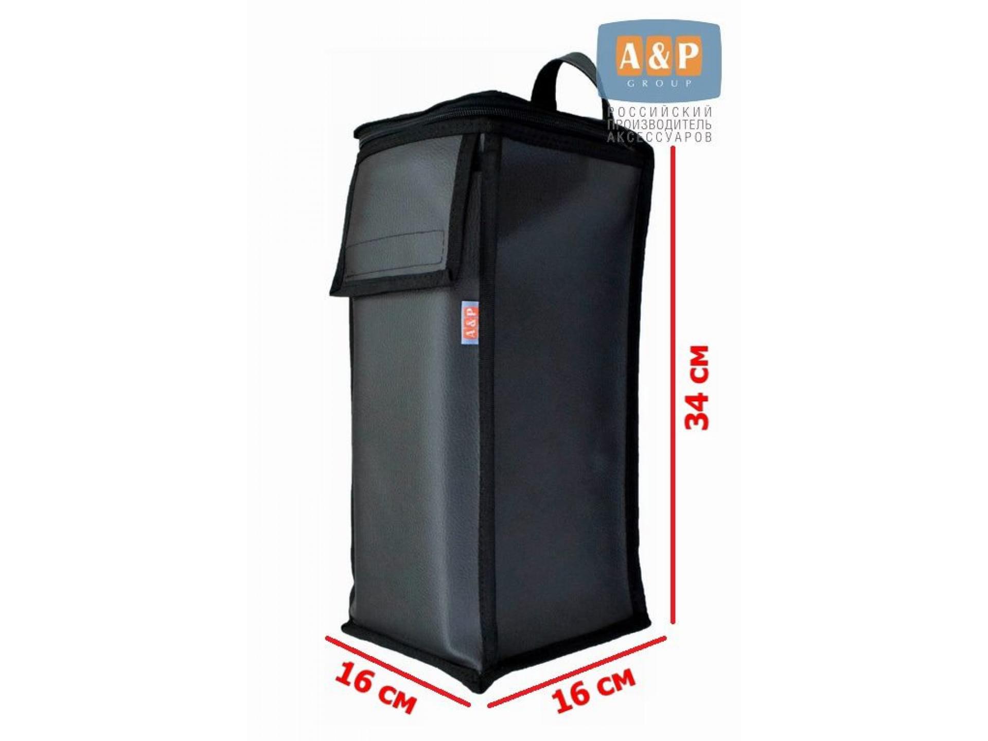 Сумка для домкрата или ножного насоса. Размеры 34х16х16 см. Материал – искусственная кожа.
