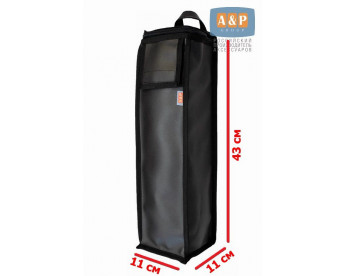 Сумка для домкрата или ножного насоса. Размеры 43х11х11 см. Материал – искусственная кожа