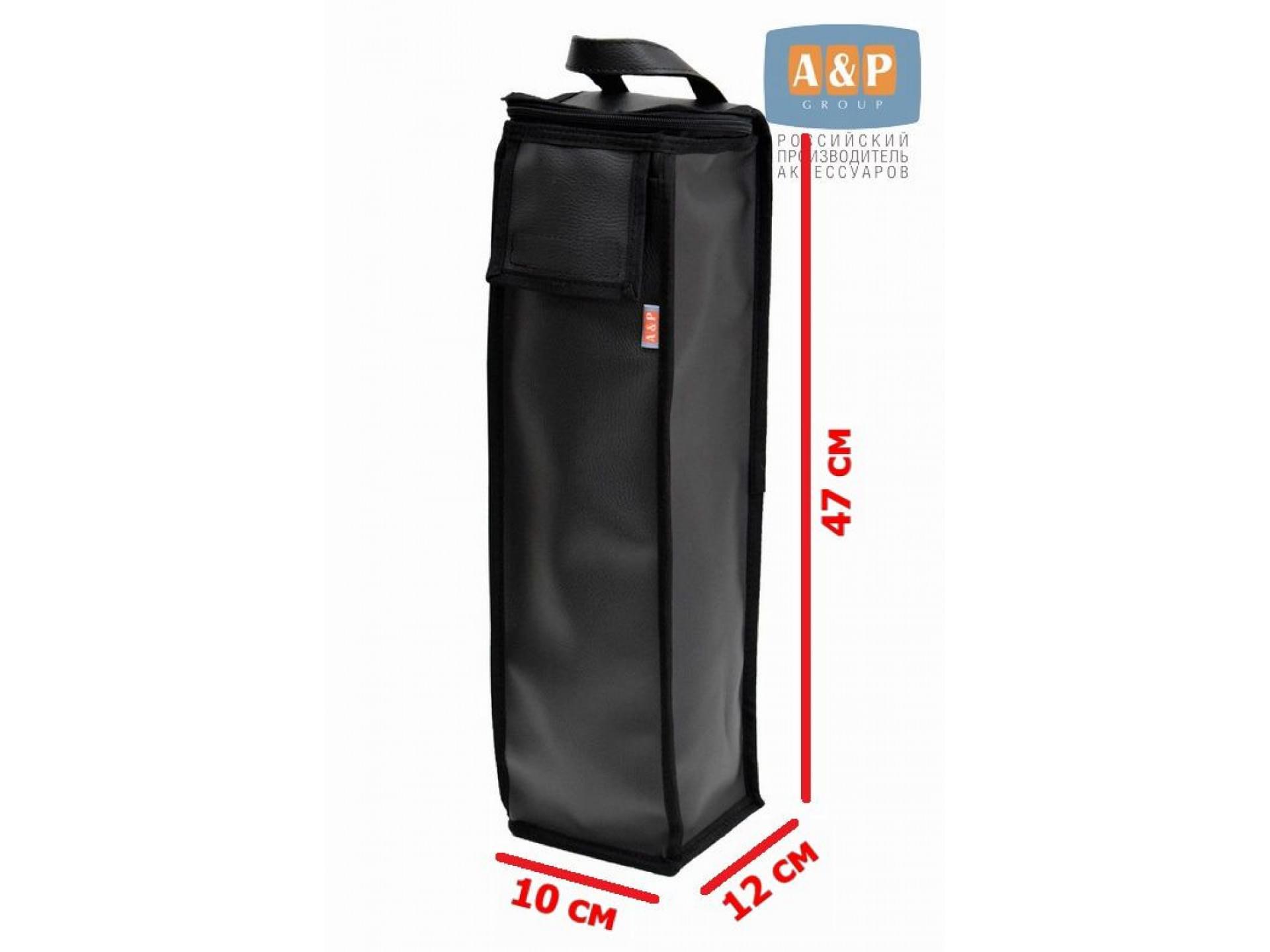 Сумка для домкрата или ножного насоса. Размеры 47х12х10 см. Материал – искусственная кожа