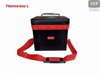 """Термосумка """"Thermo-box"""" (Термо-бокс). Размер L. Цвет: черный с красной окантовкой."""