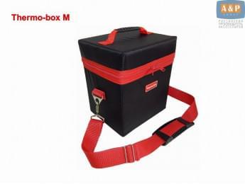 """Термосумка """"Thermo-box"""" (Термо-бокс). Размер М. Цвет: черный с красной окантовкой."""