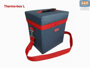 "Термосумка ""Thermo-box"" (Термо-бокс). Размер L. Цвет: маренго с красной окантовкой."