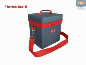 "Термосумка ""Thermo-box"" (Термо-бокс). Размер М. Цвет: маренго с красной окантовкой."