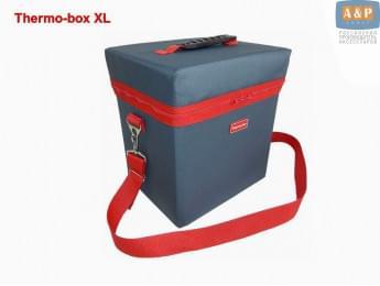 "Термосумка ""Thermo-box"" (Термо-бокс). Размер XL. Цвет: маренго с красной окантовкой."